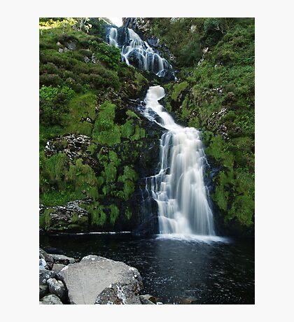 The Assarnacally Waterfall Photographic Print