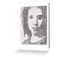Lorraine - A portrait of Lorraine James, Canadian Actress Greeting Card