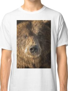 brown bear abstract Classic T-Shirt