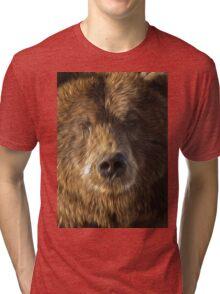 brown bear abstract Tri-blend T-Shirt