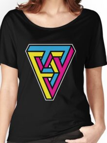CMYK Triangle Women's Relaxed Fit T-Shirt