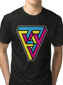 CMYK Triangle Tri-blend T-Shirt