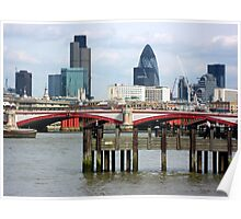 London's Skyline Along The Thames Poster