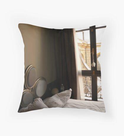 Bedroom-Luman, Paris, France Throw Pillow