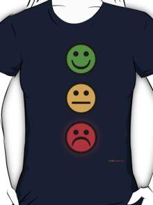 Smiley Traffic Lights - Green For Go T-Shirt