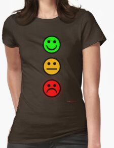 Smiley Traffic Lights - Green For Go Womens Fitted T-Shirt