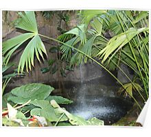 Waterfall in Cockrell  Butterfly Center Poster