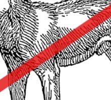 No Dingos Sticker