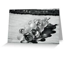 un grappolo d'uva, un'ombra .......una luce,la fortuna! Greeting Card