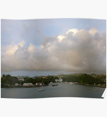 Pink Clouds- St. Lucia Poster