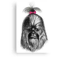 Chewbacca got his hair did Canvas Print