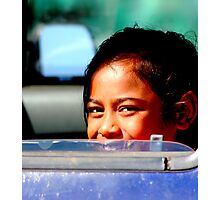 Girl in a Car Photographic Print