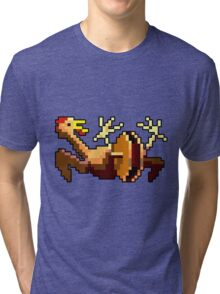 Rubber chicken with a pulley in the middle (Monkey Island) Tri-blend T-Shirt