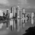 Brisbane River and City. Queensland, Australia. (2) by Ralph de Zilva