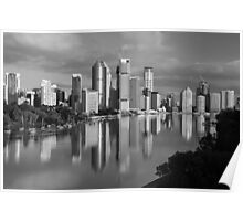 Brisbane River and City. Queensland, Australia. (2) Poster