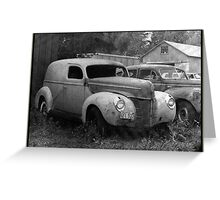 A Nineteen-Forty Ford Panel Truck Greeting Card