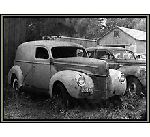 A Nineteen-Forty Ford Panel Truck Photographic Print