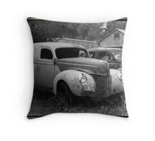 A Nineteen-Forty Ford Panel Truck Throw Pillow