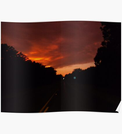 Fiery Silhouettes  Poster