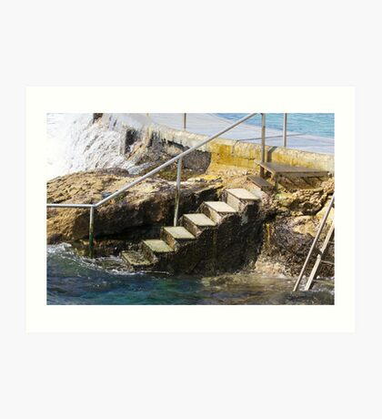 VIEW FROM THE BATHS Art Print