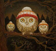 Family of little owls by Netopir
