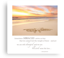 The Tiniest of Miracles Canvas Print