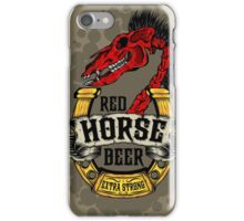 Red Horse Beer iPhone Case/Skin