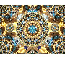 Computer Jewel Kaleidoscope 003 Photographic Print