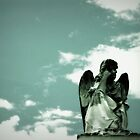 contemplative angel by nessbloo