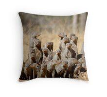 A Business of Mongoose Throw Pillow