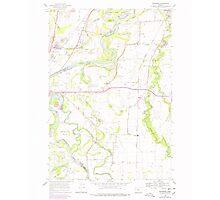 USGS Topo Map Oregon Riverside 281281 1969 24000 Photographic Print