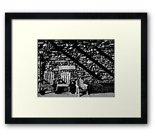 Motel Chairs Framed Print