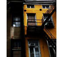 white square, yellow wall Photographic Print