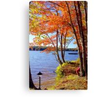 Autumn lake, Connecticut Canvas Print
