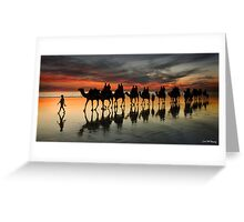 Cable Beach Camel Train Greeting Card