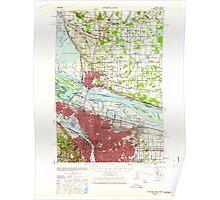 USGS Topo Map Oregon Portland 282800 1940 62500 Poster