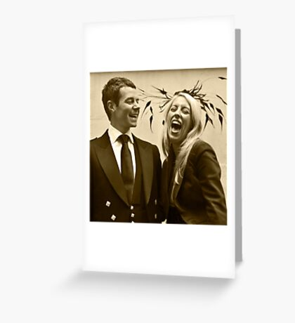 Wedding Guests Greeting Card