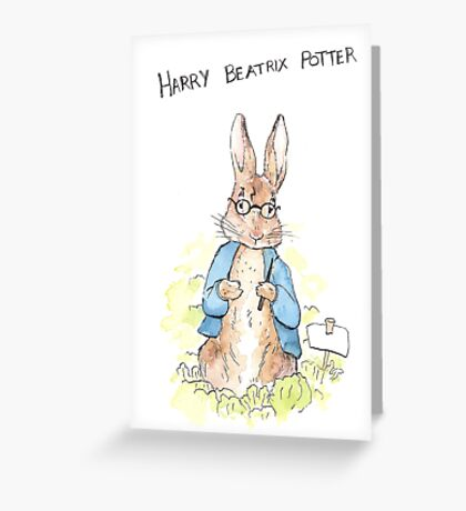 Harry Beatrix Potter Greeting Card