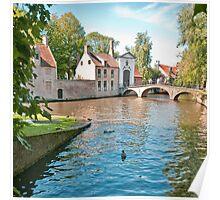 Brugges Canal Scene Poster