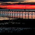 Sunset over Ceduna Jetty by Sue  Fellows
