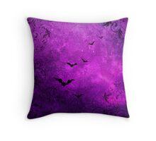 Bats and Swirls Throw Pillow