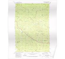 USGS Topo Map Oregon Sunset Spring 281707 1979 24000 Poster