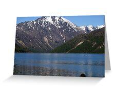Cold Water Lake, Washington Greeting Card