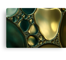 Oil & Water Metalics Collection I Canvas Print
