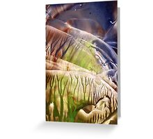 Intensely immersive hollow light flight Greeting Card