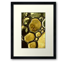 Oil & Water Metalics Collection V Framed Print