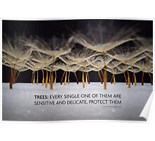 Protect trees in colour  Poster