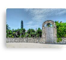 The Beach Gate on Paradise Island in Nassau, The Bahamas Canvas Print