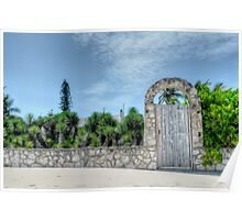 The Beach Gate on Paradise Island in Nassau, The Bahamas Poster