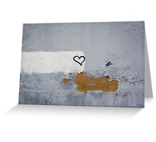 Heart painted on the wall Greeting Card